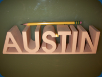 Waterjet Logo from Rigid Foam for Signage Industry